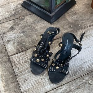 Latitude Femme suede sandals with studs size 36.5